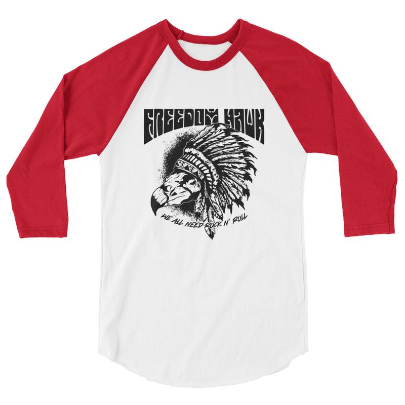 We All Need Rock n Roll - 3/4 sleeve raglan shirt