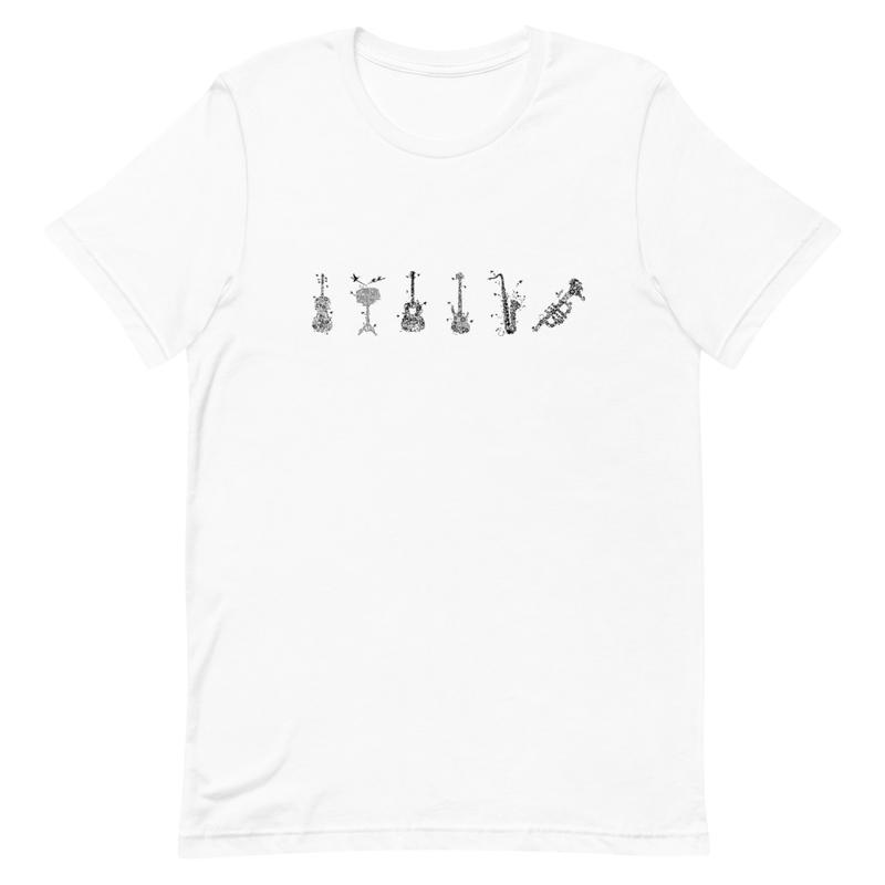 Flowered Instruments Short-Sleeve Unisex T-Shirt