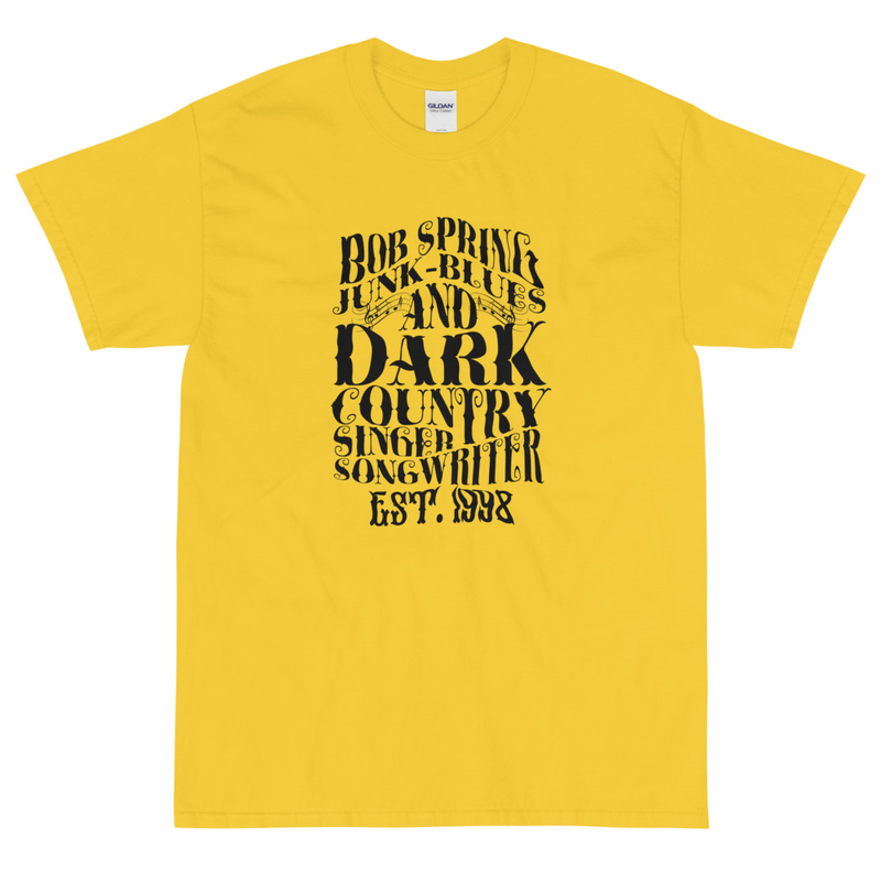 Men T-shirt - Est. 1998 - Black on Yellow