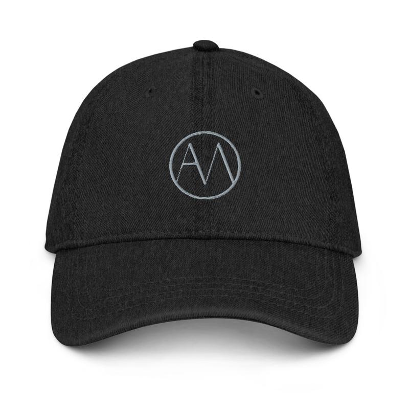 AMO Hat in Black Denim