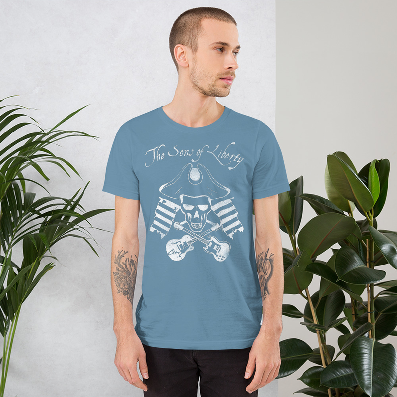 Sons of Liberty White Distressed Logo T Single Color