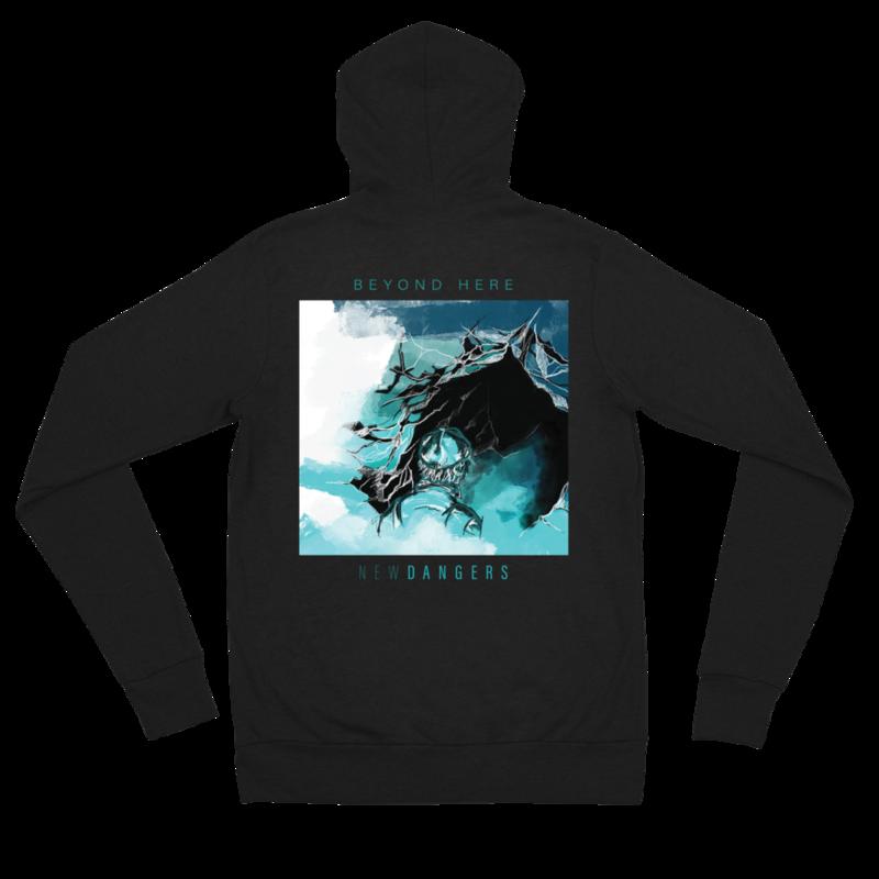 New Dangers Backprint Unisex zip hoodie