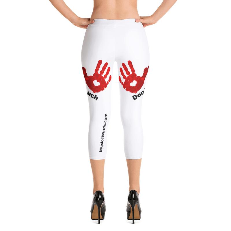 Don't Touch-Red Hands - Capri Leggings