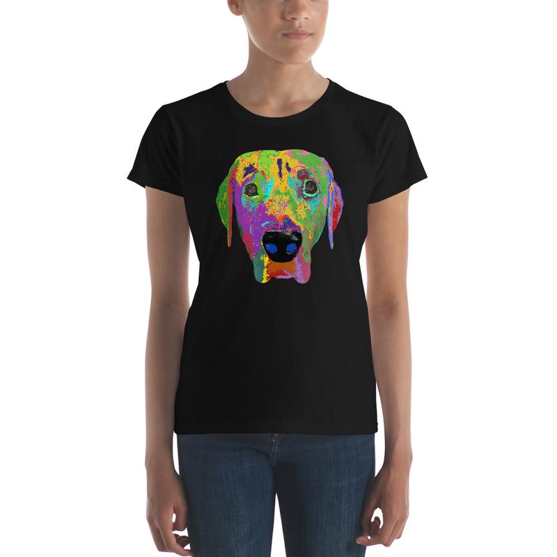 Dog head Women's short sleeve t-shirt