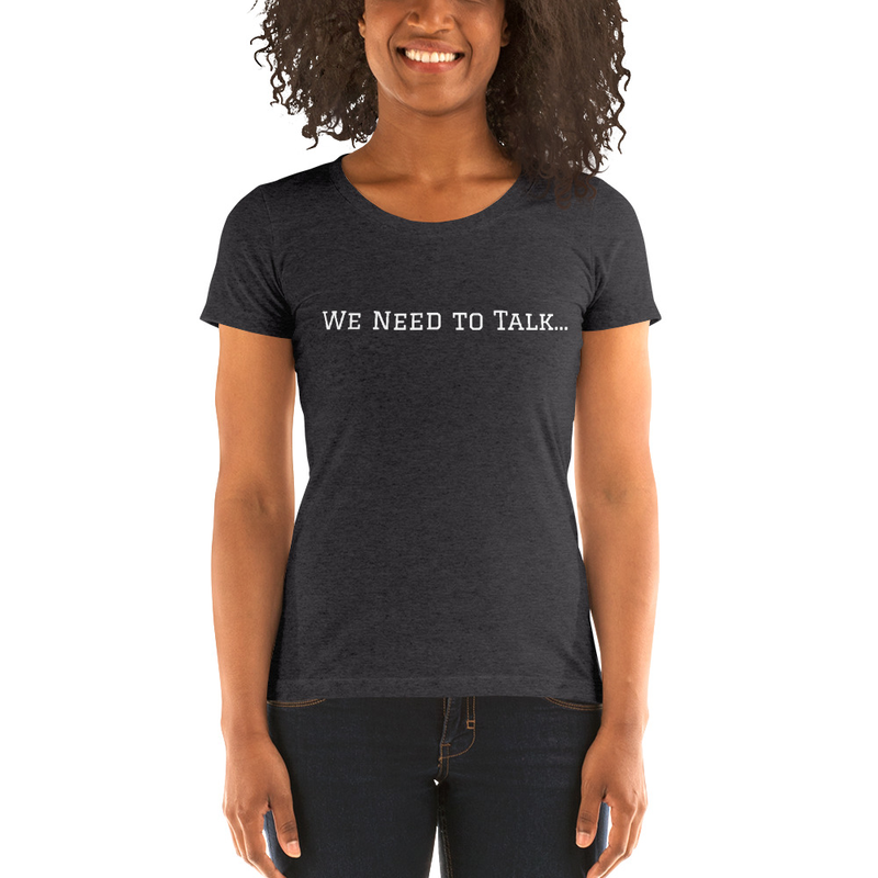 WNTT - Ladies' short sleeve t-shirt (white lettering)