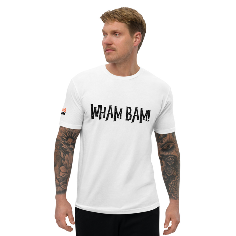 Short Sleeve Men's Fitted T-shirt - WHAM BAM!