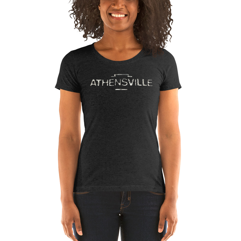 """""""ATHENSVILLE"""" logo - ladies' short sleeve t-shirt"""