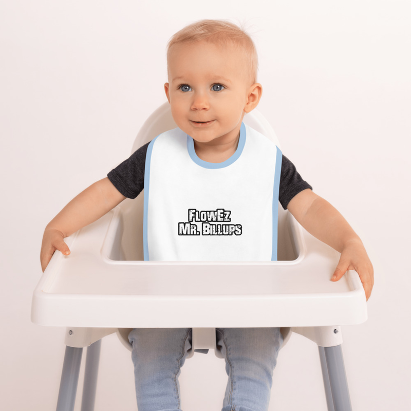 FlowEz Mr. Billups Embroidered Baby Bib