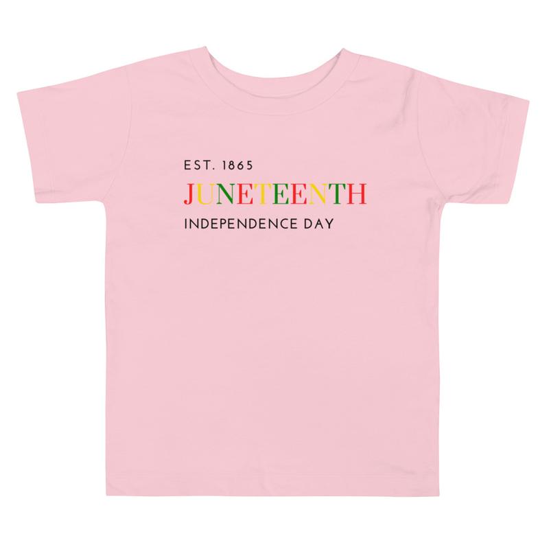 Juneteenth COLOR Toddler Short Sleeve Tee