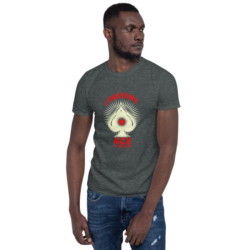Short-Sleeve Unisex T-Shirt Ace Logo (white)