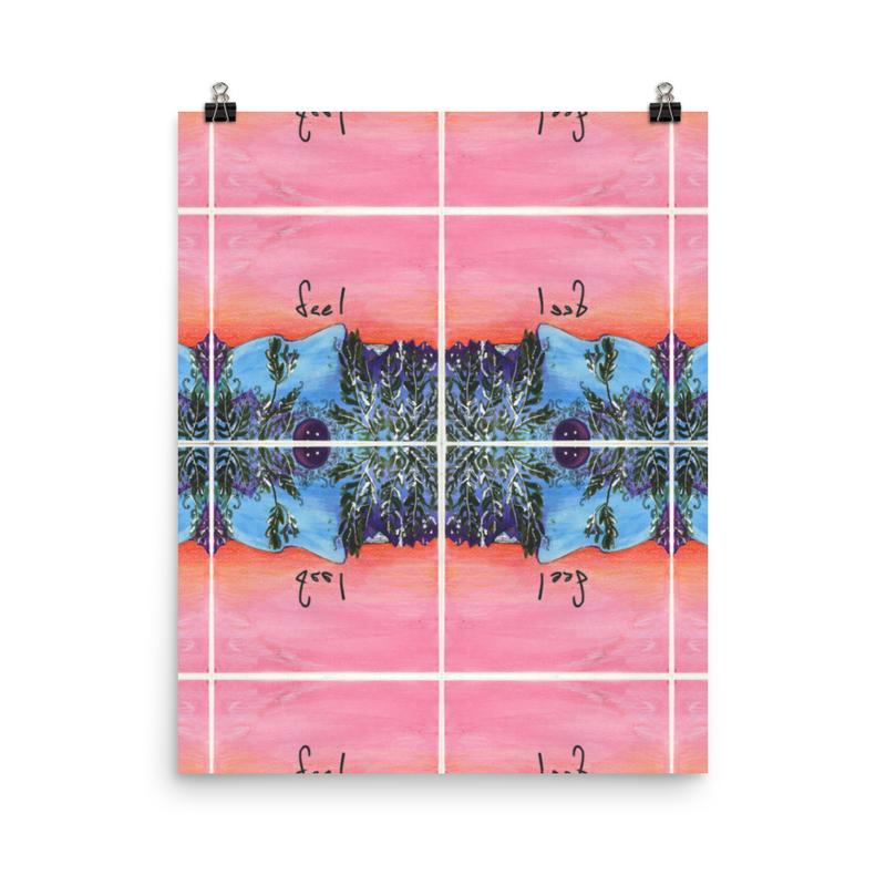 Feel - Patterned Album Art Poster