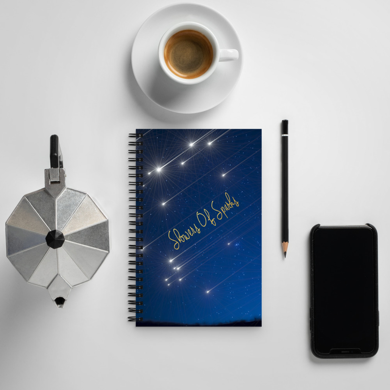 Showers Of Sparks Spiral notebook