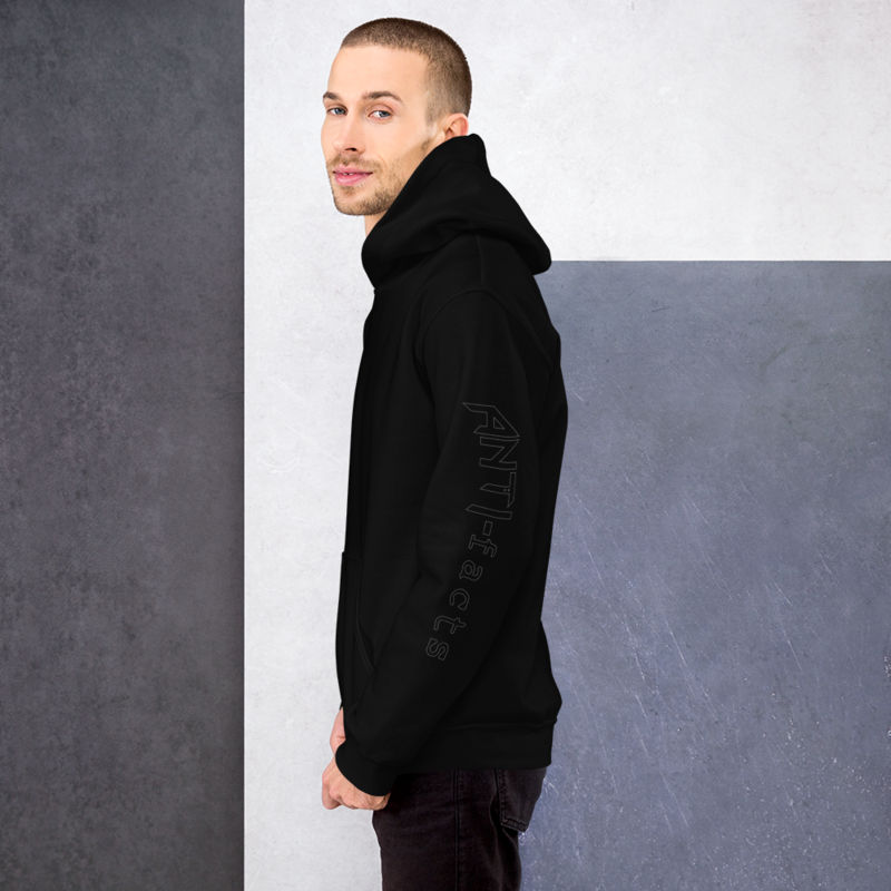 Anti-facts Sleeve Outline Unisex Hoodie