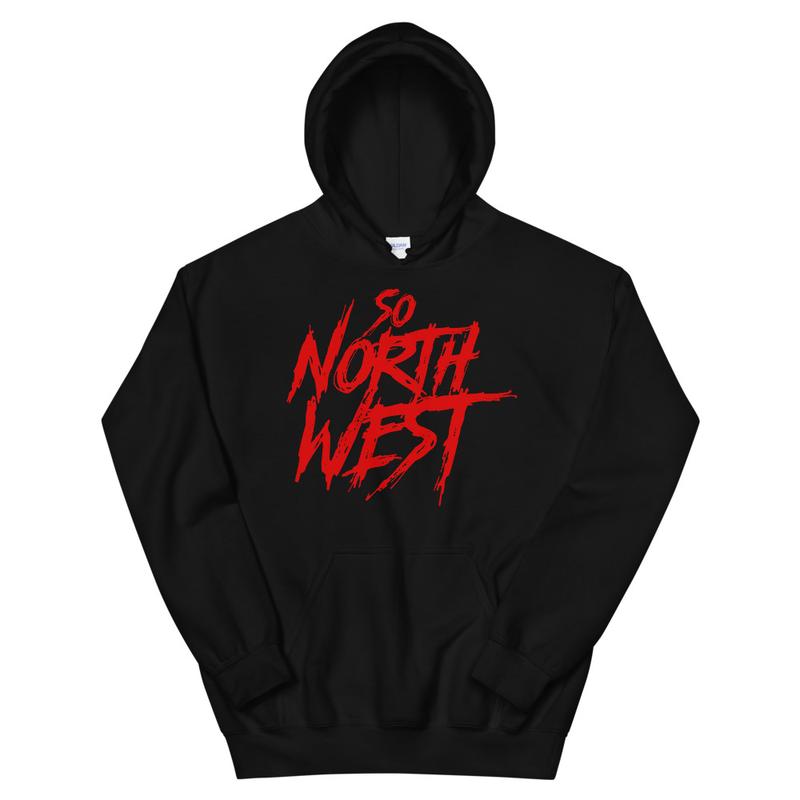 So North West Red Logo Unisex Hoodie