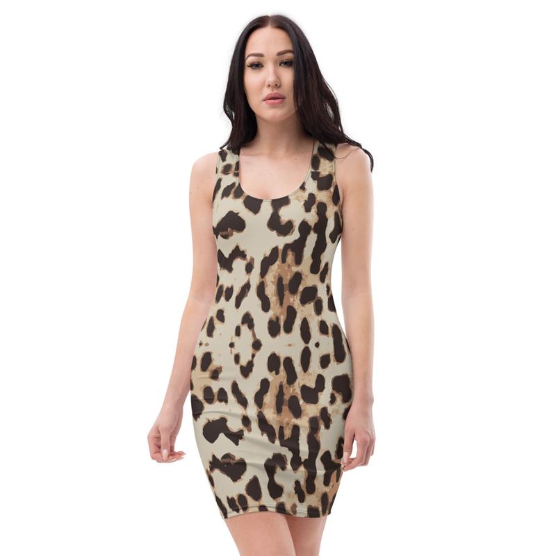 AHoney Leopard Skin Sublimation Cut & Sew Dress