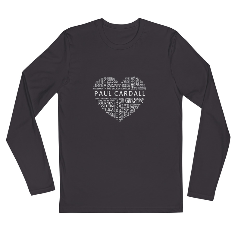Paul Cardall Heart - Long Sleeve Fitted Crew