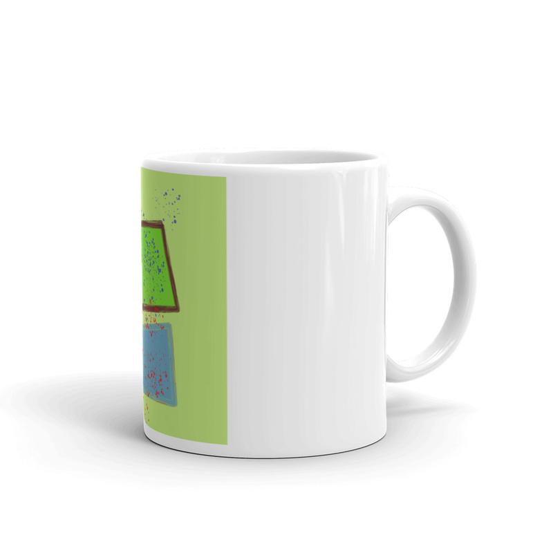 White glossy mug - 100 Yards