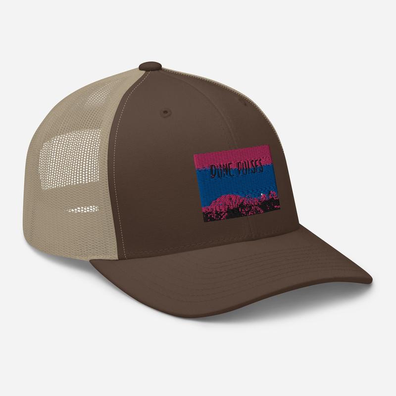 Trucker Cap (Dune Pulses - Zion flamingo sky)