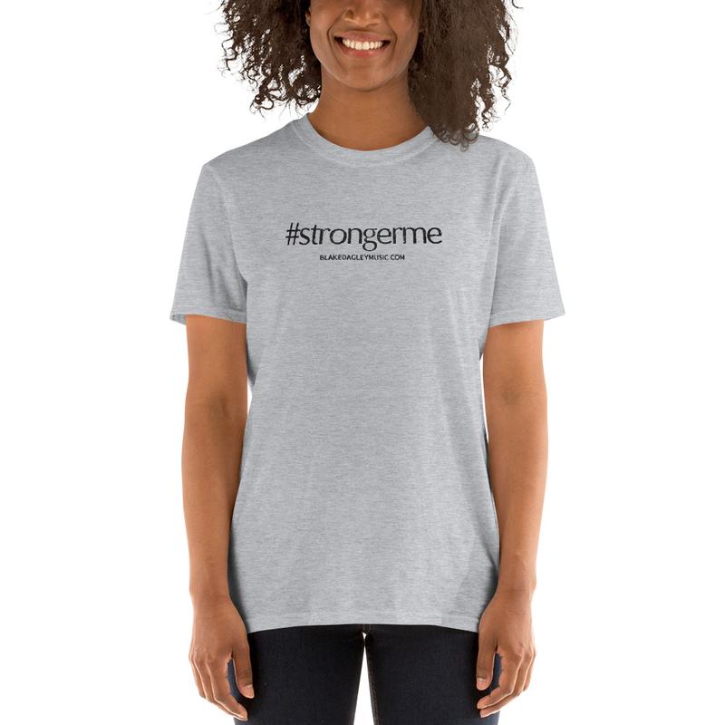 #strongerme T-Shirt (White and Light Gray)