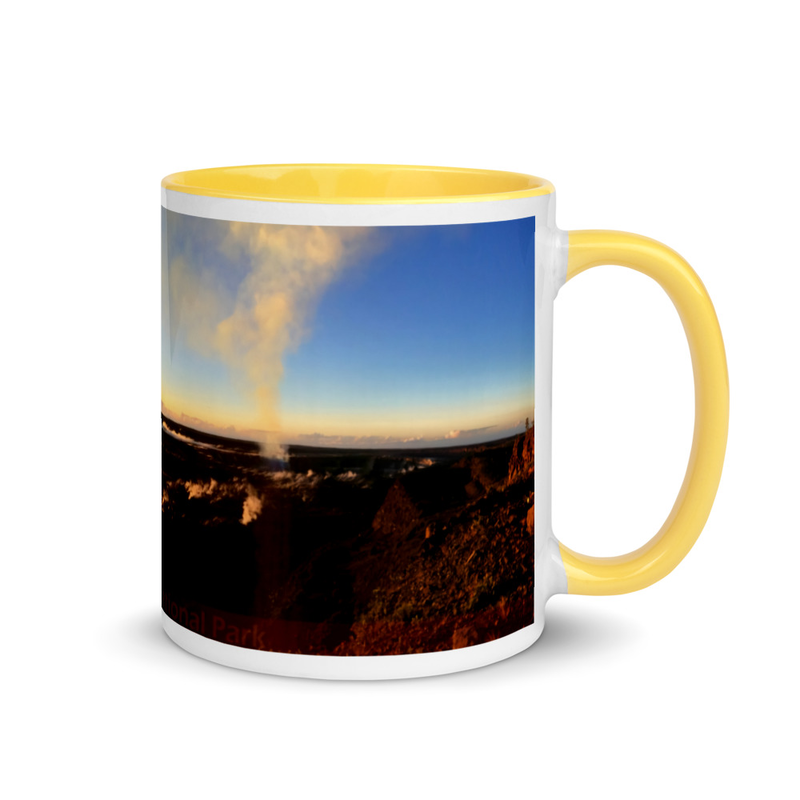 Kilauea Active Volcano - Mug with Color Inside