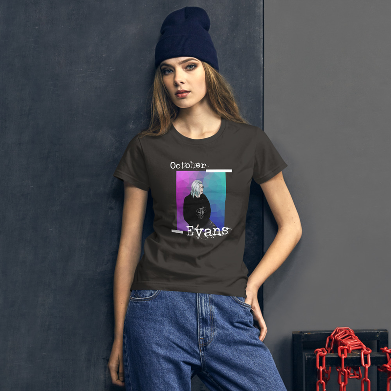 Animated October Evans Women's short sleeve t-shirt
