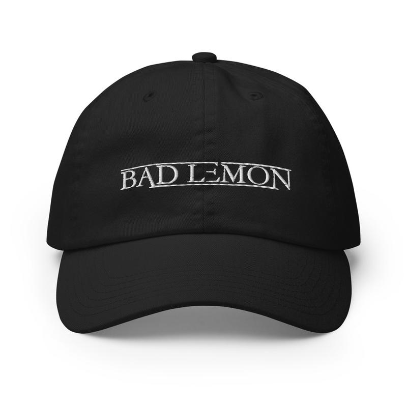 Bad Lemon Base Ball Hat - Black