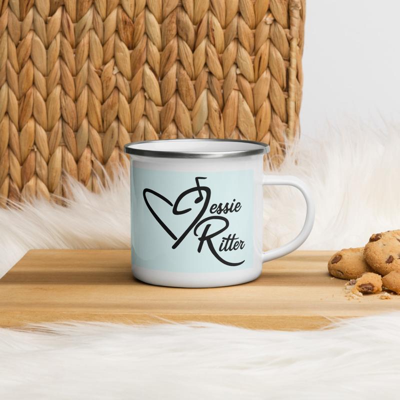 Blue Jessie Ritter Logo Mug