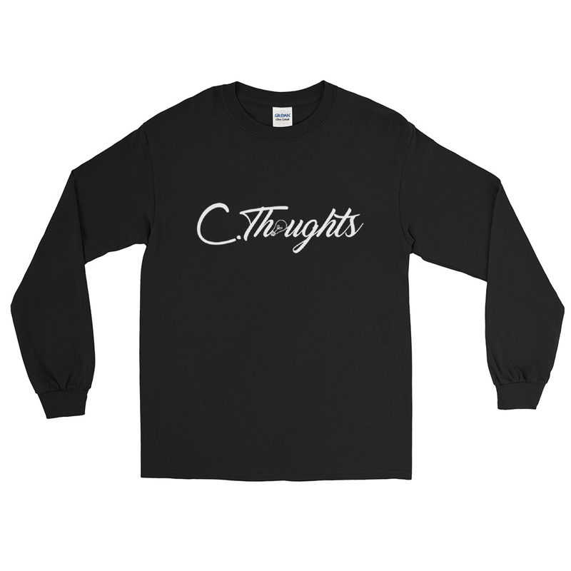 C.Thoughts Logo Black Long Sleeve T-Shirt