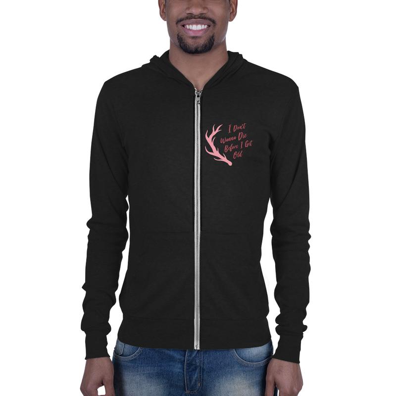 Placebo Quote Unisex zip hoodie