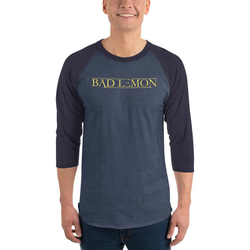 Bad Lemon Unisex 3/4 Long Sleeve Shirt - Yellow