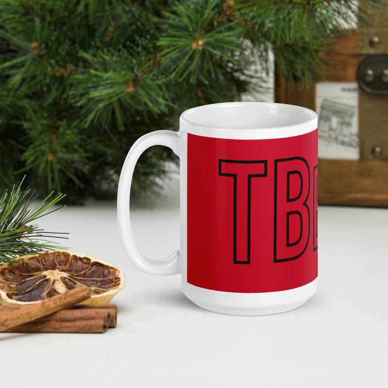 TBelly Logo glossy mug - Red