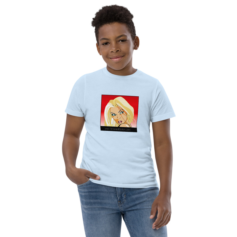 Kids' Blonde Manga T-Shirt