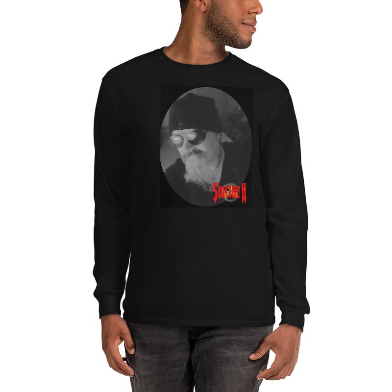 Men's Long Sleeve Shirt Print face & back