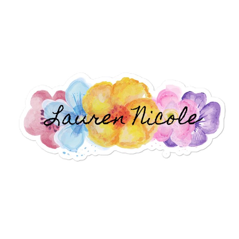 Floral Lauren Nicole Sticker