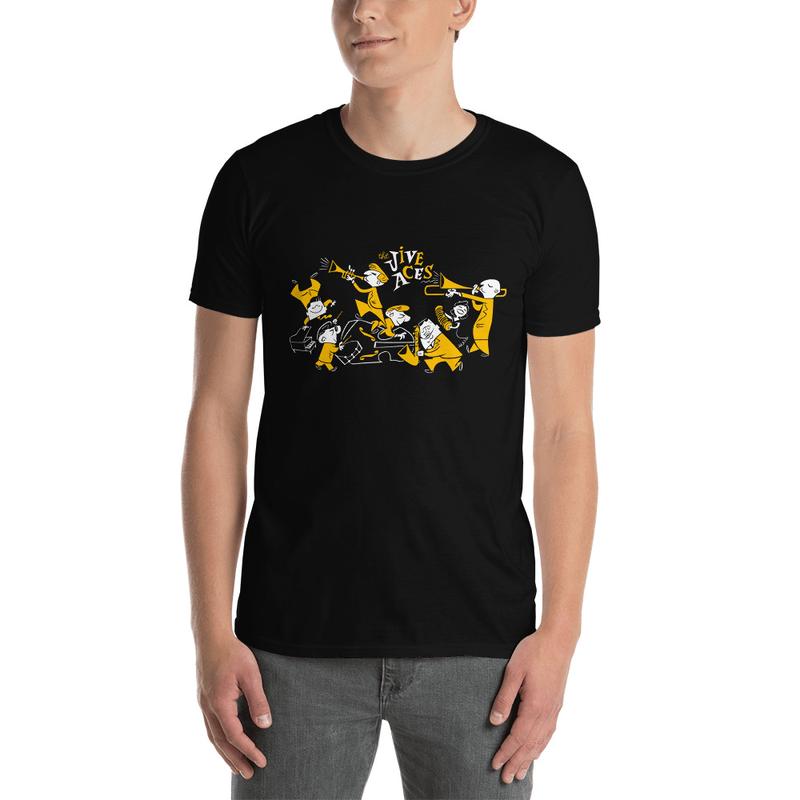 The Jive Aces Black Toon Men's T Shirt