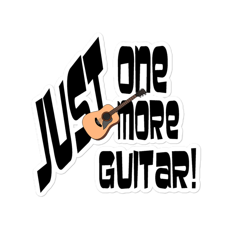 Just One More Guitar - Bubble-free stickers