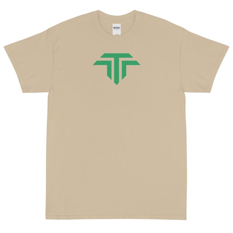 Unisex Short Sleeve T-Shirt - Green Icon Logo