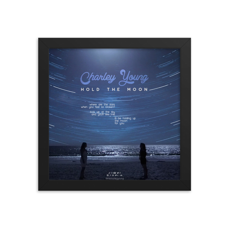Hold the Moon Lyric Framed Poster
