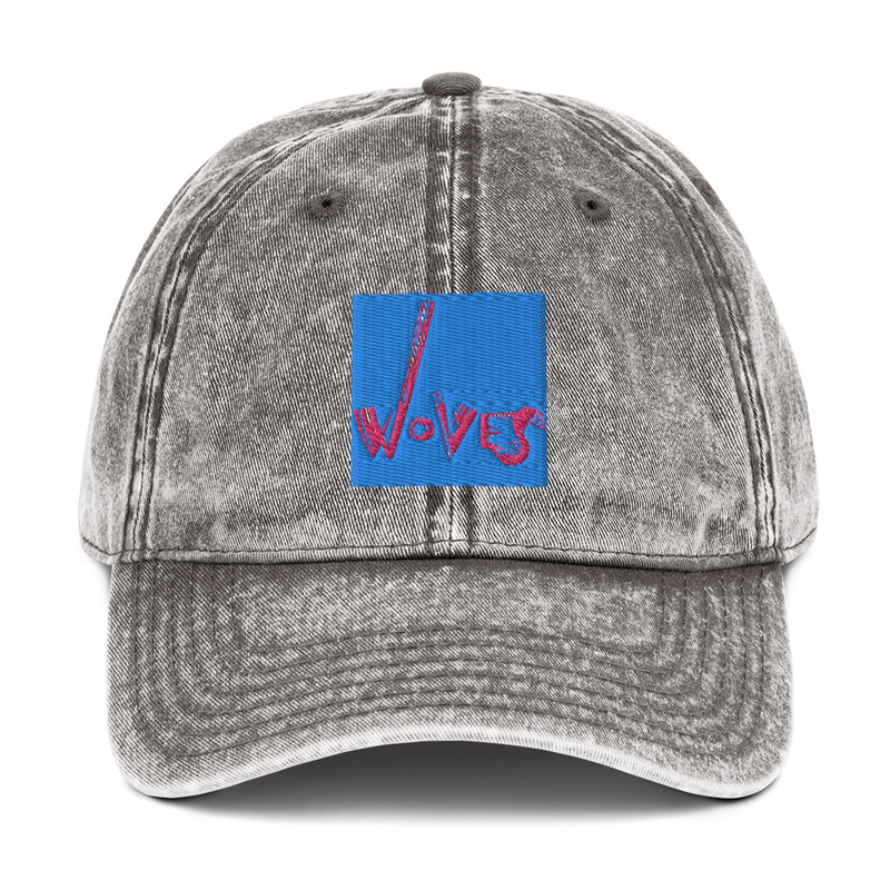 Vintage Cotton Twill Cap (Woves - Blue Sky pink)
