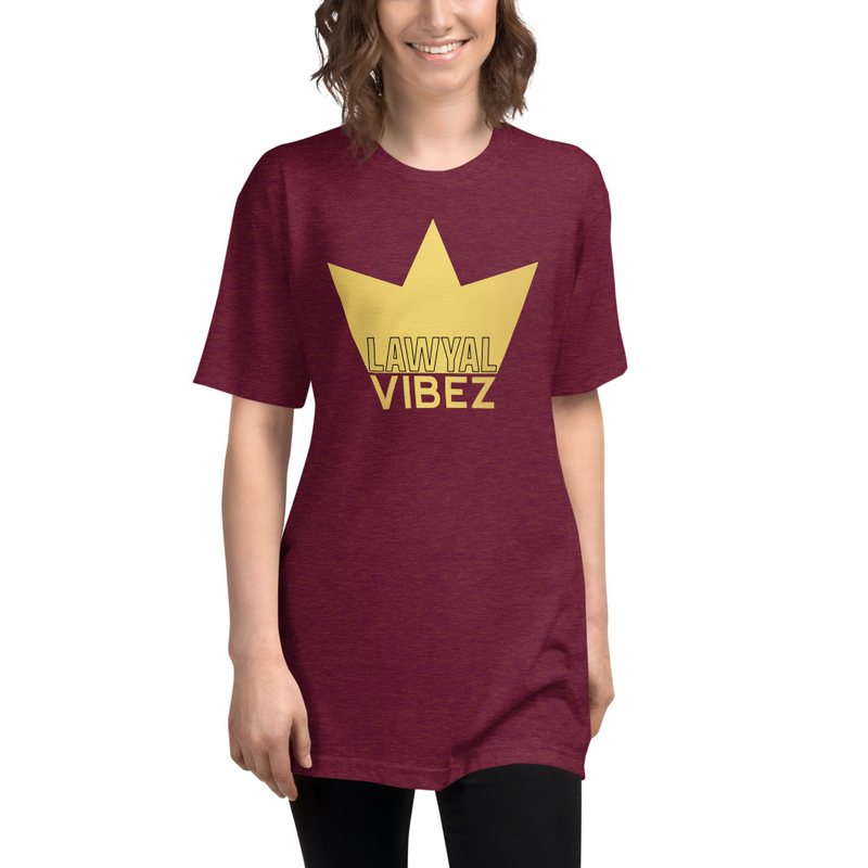 LAWYAL VIBEZ Unisex Tri-Blend Track Shirt