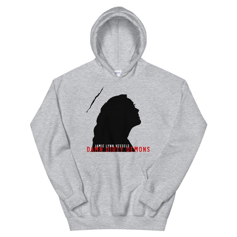 """Damn Dirty Demons"" Unisex Hoodie - black logo"