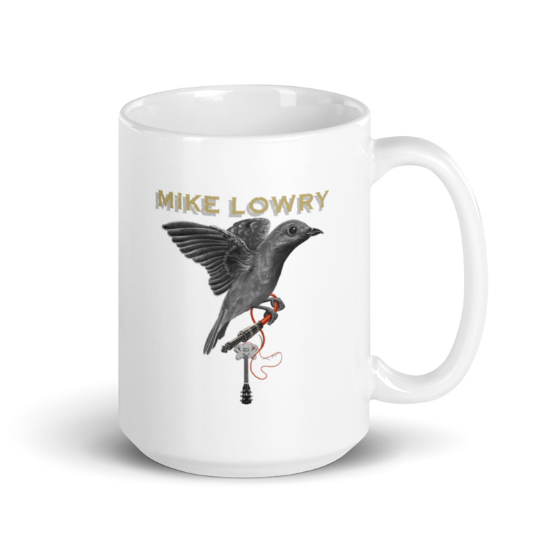 Mug - Bird with Guitar on white background