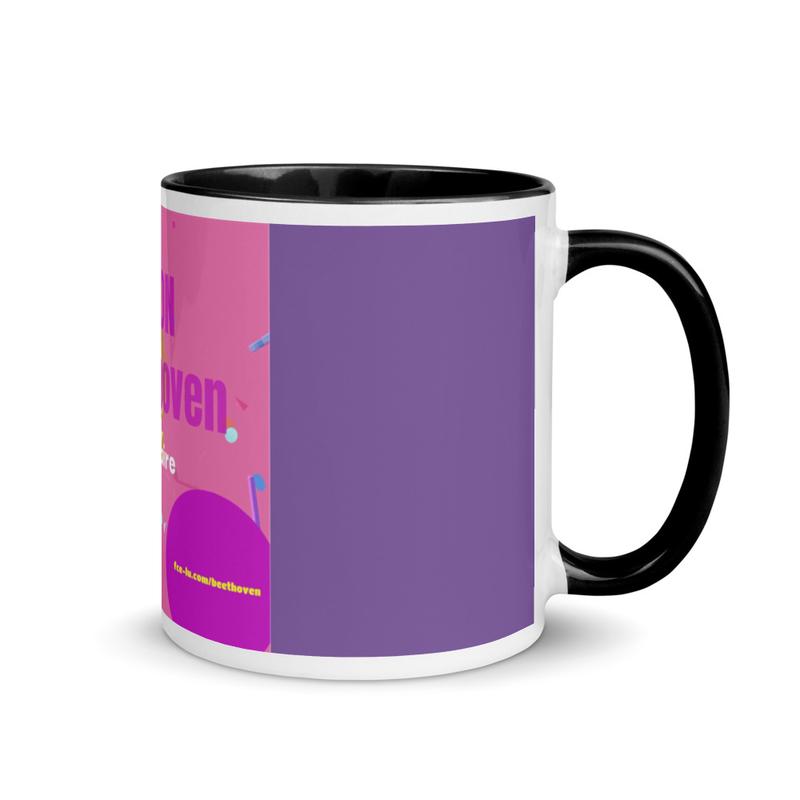 MON BEETHOVEN - Mug en céramique coloré à l'intérieur