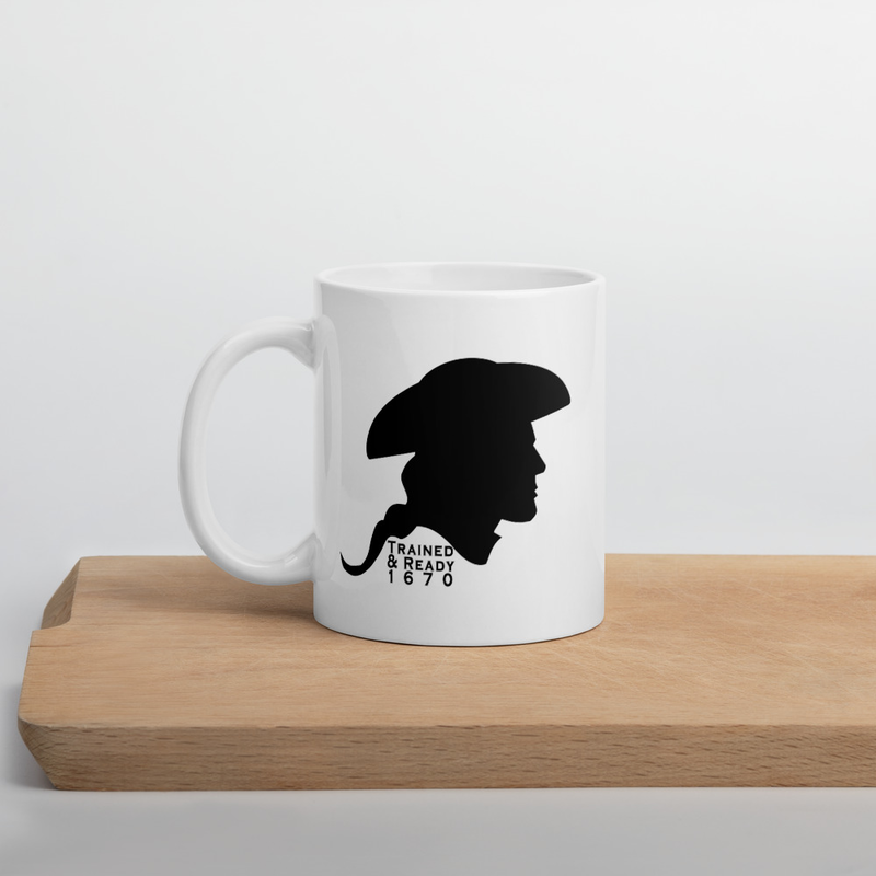 SCSG - Crossed Patriot - White glossy mug