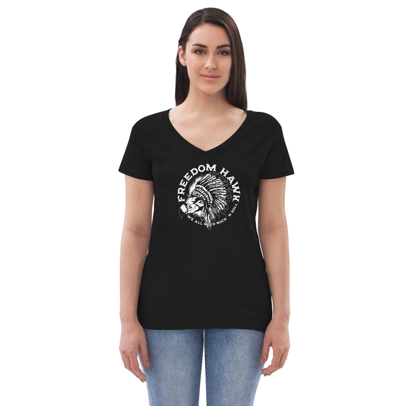 We All Need Rock n Roll - Women's recycled v-neck t-shirt
