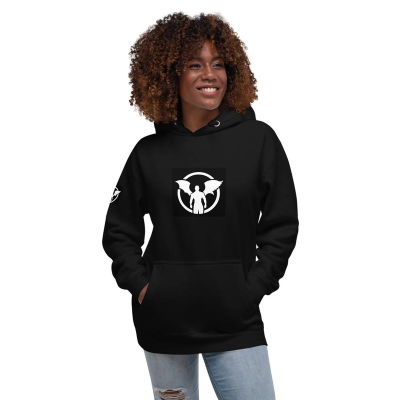 """""""TD"""" Standing Man Logo Unisex Hoodie"""