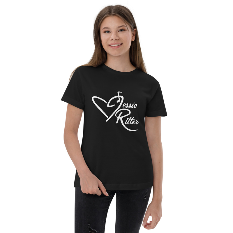 Youth Jersey T-Shirt - Jessie Ritter Logo (black or blue)