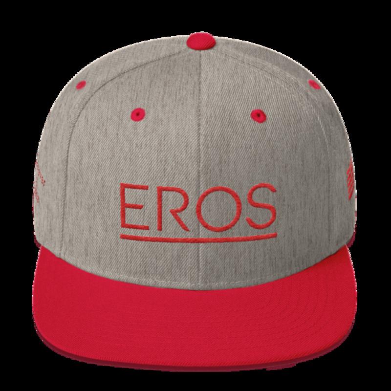 Eros Red Snapback mockup