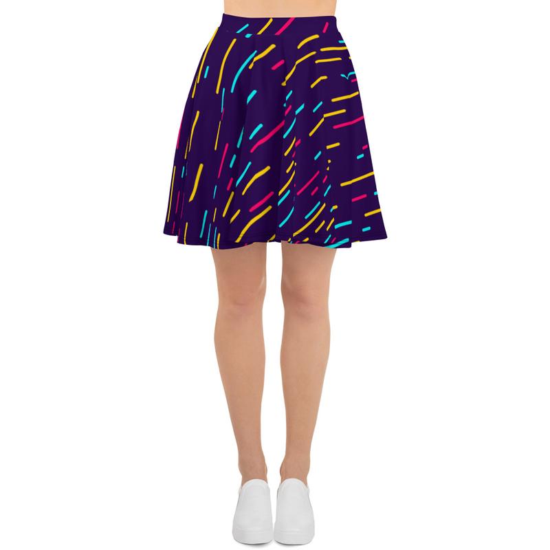 AHoney Blinding Lights Skater Skirt
