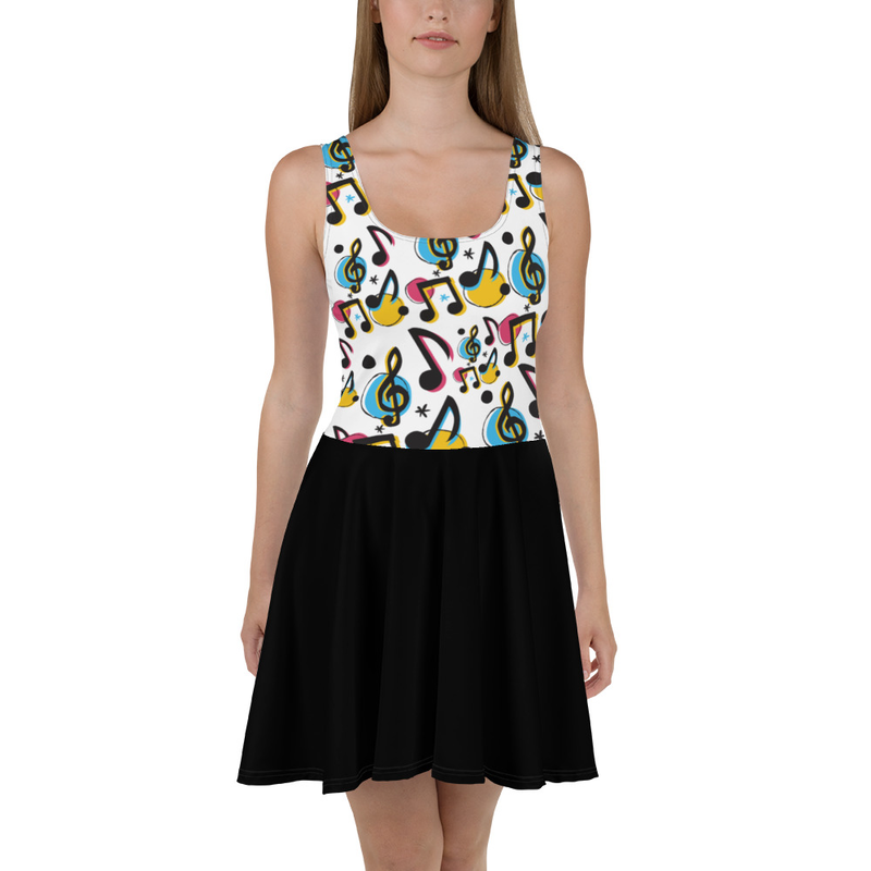 Music Note Skater Dress